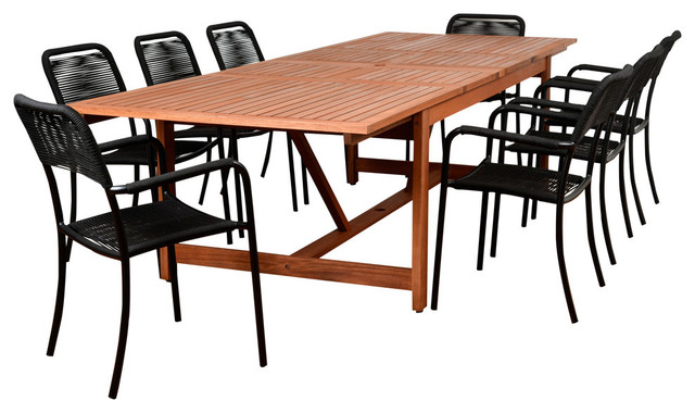 Amazonia Oosterdam 9-Piece Rectangular Patio Dining Set.
