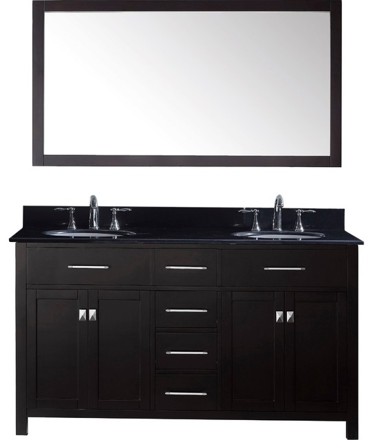 Caroline Estate Double Vanity With Mirrors White Without Faucet Square