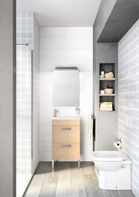 Baño pequeño Debba   ROCA - Contemporáneo - Cuarto de baño ...