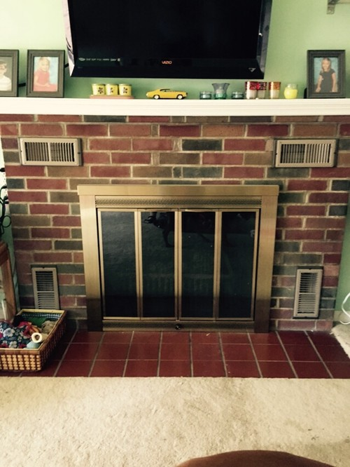 We bought this 1948 built house. I want to upgrade the fireplace with gas log insert