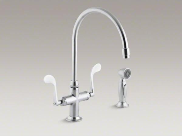 Kohler Essex R Single Hole Kitchen Sink Faucet With 9 Gooseneck Spout And Acce Contemporary