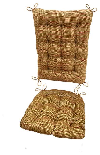 Brisbane Tan Upholstery Rocking Chair Cushions Latex Foam Fill Reversible Contemporary