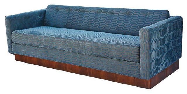 MidCentury Milo Baughman Style Platform Sofa
