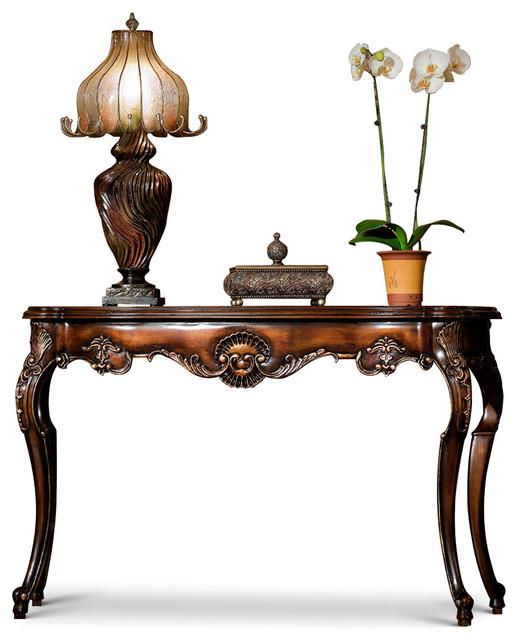 Victoria Console Table Antique Walnut