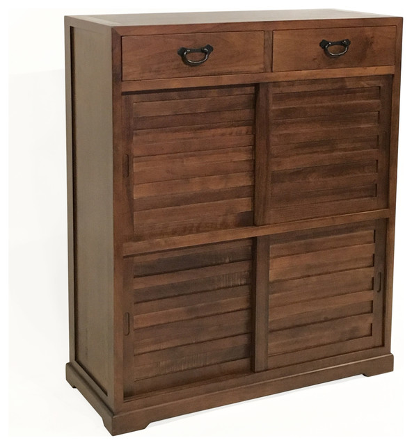 Shinto Tall Cabinet - Transitional - Accent Chests And Cabinets - by Gingko Furniture