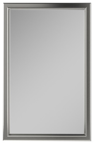 "Xdc2430 Merion 23""x30"" Framed Cabinet, Classic Gray Interior, Left, Satin Nickel."
