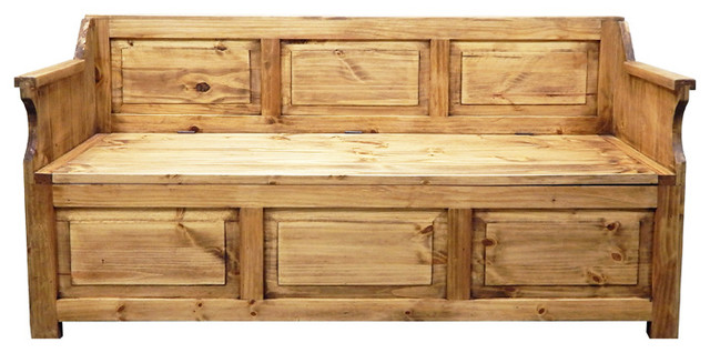 Missoula Storage Bench Rustic Accent And Storage Benches