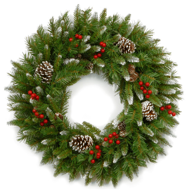 24 Frosted Berry Wreath.