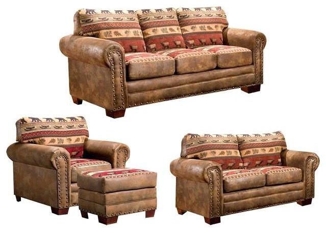 Outdoor Leisure Products Sierra Lodge 4 Piece Sofa Set - 8500-10K
