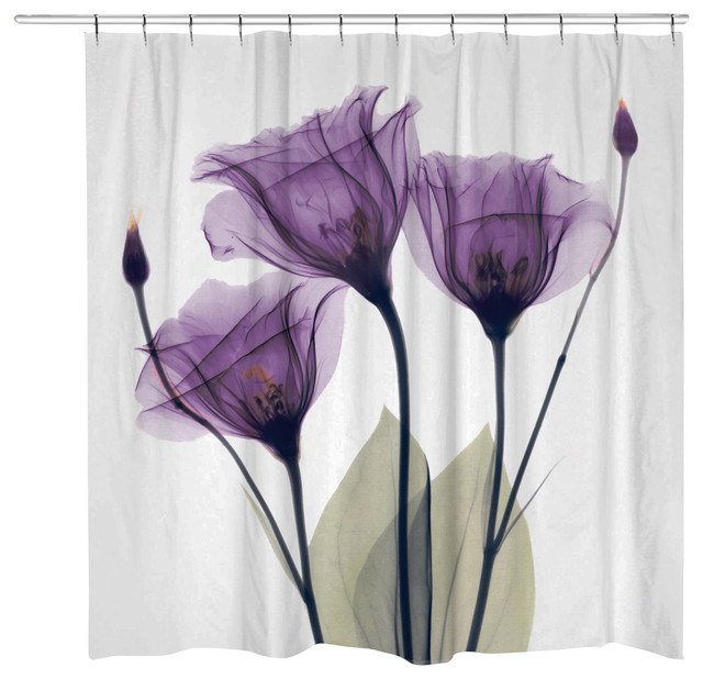 Gentian Hope Shower Curtain Contemporary Curtains
