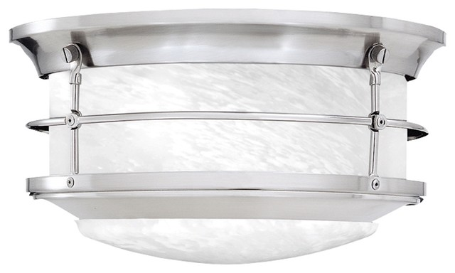 Newport Ceiling Lamp Brushed Nickel 2x60.