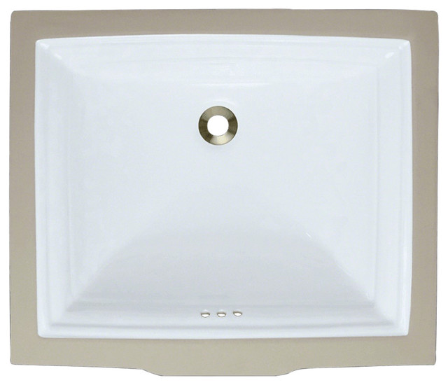Polaris P0542uw Rectangular Porcelain Sink, Triple Glazed.