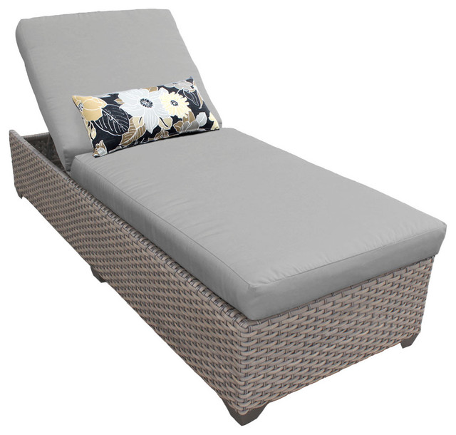 Shop houzz tkclassics harmony chaise outdoor wicker for Chaise and lounge aliso viejo