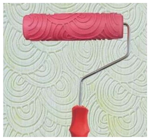 Embossed Paint Roller Wall Painting Runner Wall Decor DIY tool, Pattern 7