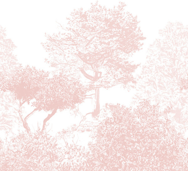 Hua trees mural asian wallpaper by sian zeng for Asian mural wallpaper