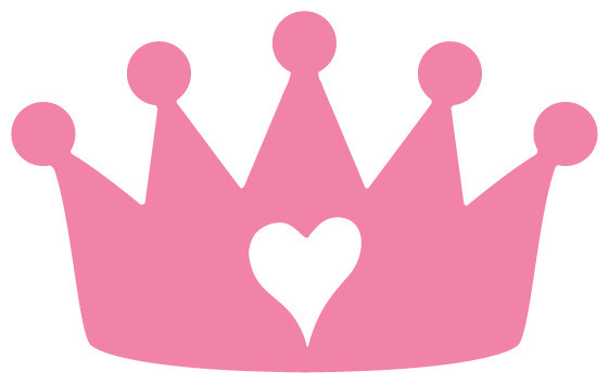 Princess Crown Stencil For Painting Contemporary Wall