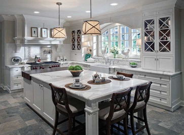 Large White Kitchen traditional kitchen