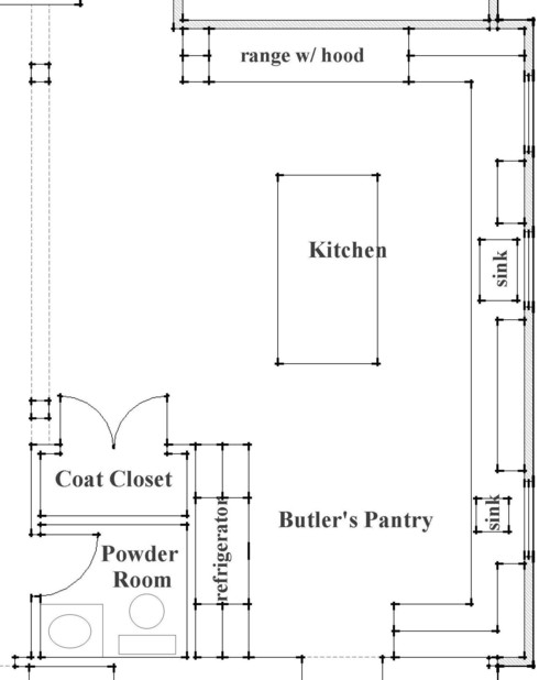 Great kitchen plan. What are the dimensions of the entire room? Butler's pantry?