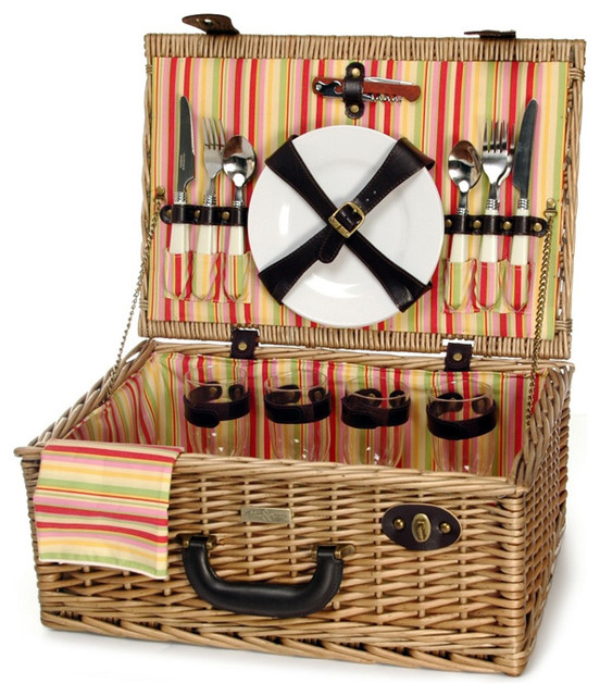 Terazzo 4-Person Picnic Basket.