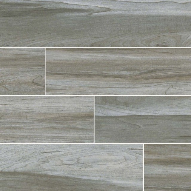 Carolina Timber Gray Ceramic Wood Look Tile Traditional Wall