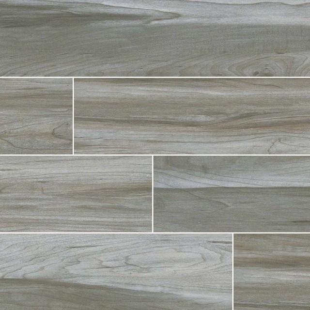 Carolina Timber Gray Ceramic Wood Look Tile Traditional Wall And