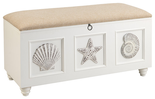 Seahaven Bench With Seating, White