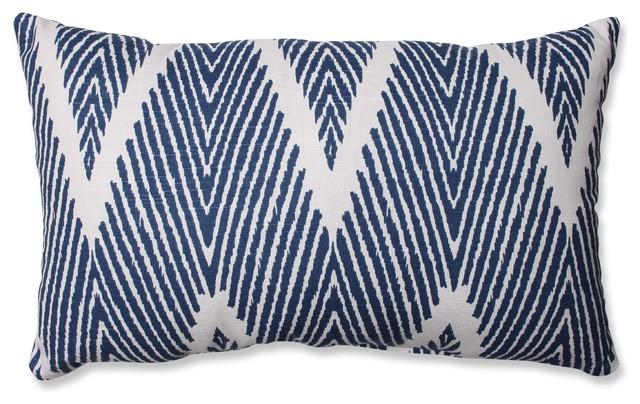 Bali Mandarin Rectangular Throw Pillow, Navy