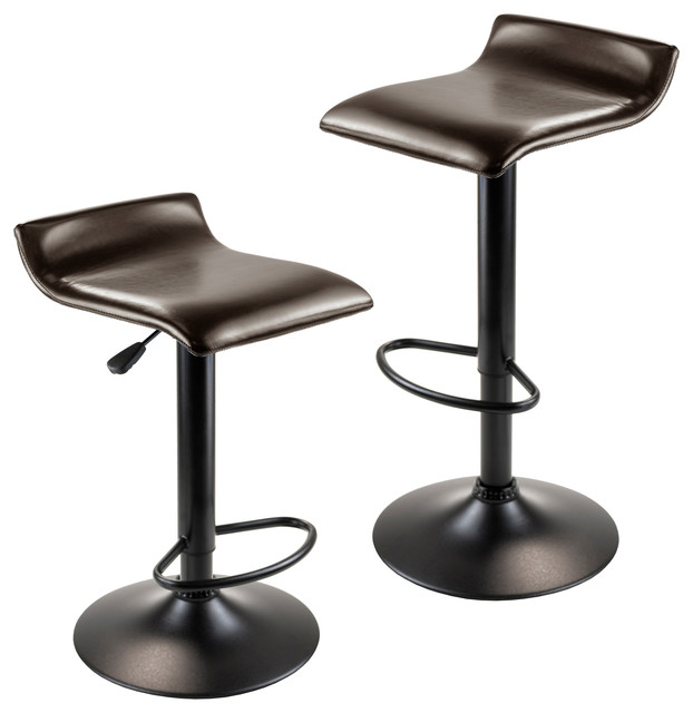 Airlift Adjustable Swivel Stools Set of 2 Black contemporary-bar-stools-  sc 1 st  Houzz : swivel stools - islam-shia.org