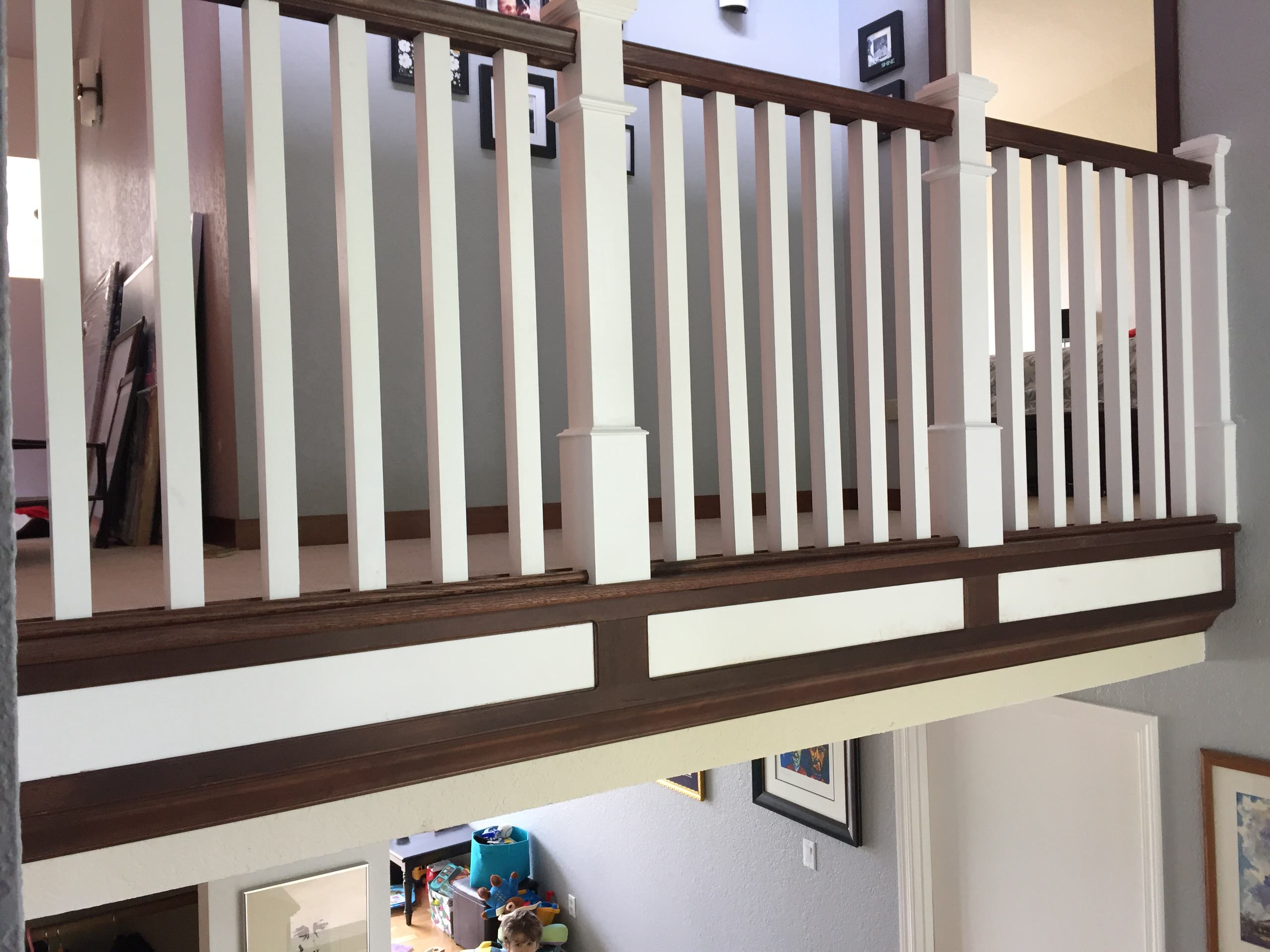 Classical Railing with Red Oak
