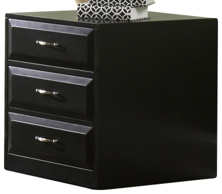 Liberty Hampton Bay Mobile File Cabinet In Black 717 Ho146 Transitional Filing Cabinets By Emma Mason