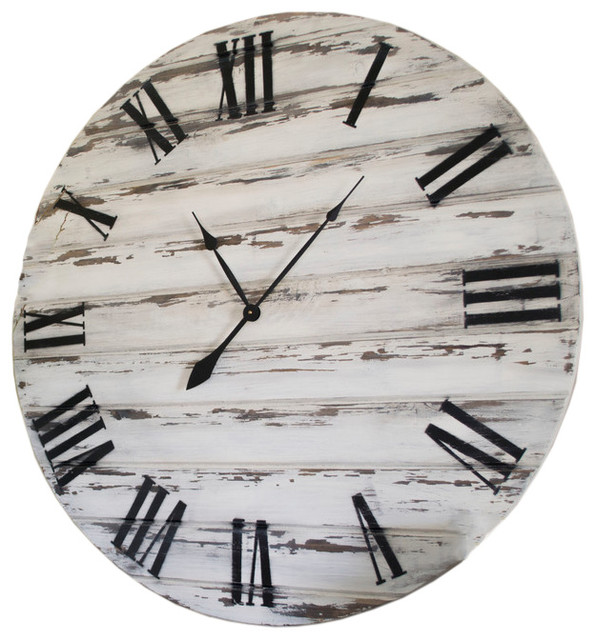 Rustic Distressed Wall Clock Farmhouse Wall Clocks