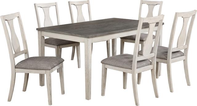 Karwell Dining Set, Antique White, Gray