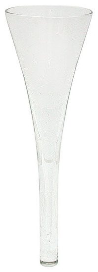 "Couronne Co. 9.5"" Elegant Cone Glass Vase"