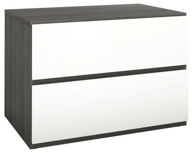 Eco-Friendly Night Stand with Flip Door and Drawer