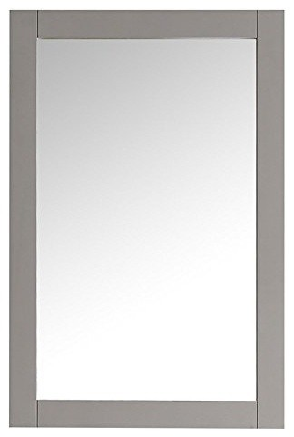 "Fresca Hartford 20"" Gray Traditional Bathroom Mirror."