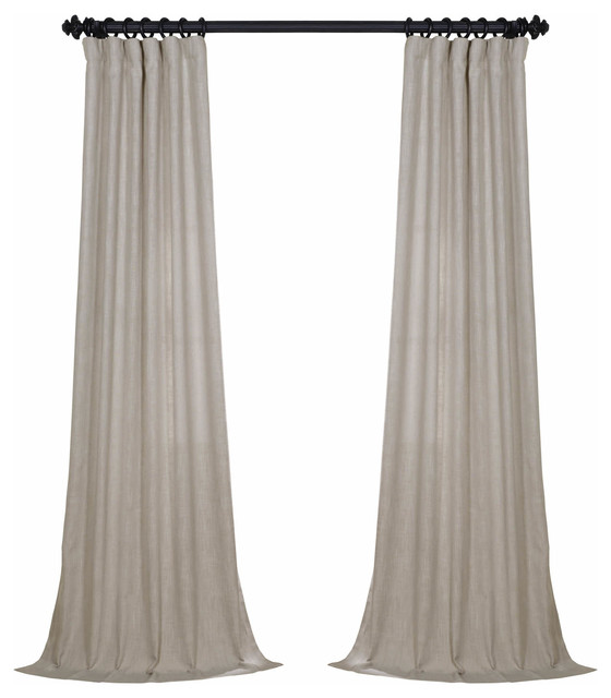 "Remi Curtain, Single Panel, Beige, 50""x96""."