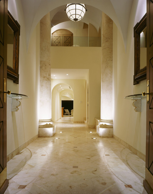 Foyer   mediterranean   entry   other   by jerry jacobs design, inc.