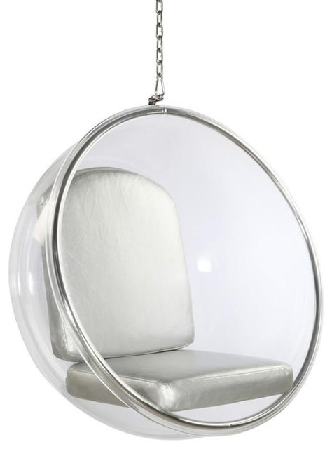 Acrylic Bubble Chair Sliver Cushion With Stand by Imtinanz