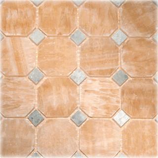 Polished Octagon Pattern Mesh Mounted Onyx Tile Mosaic Tile Houzz