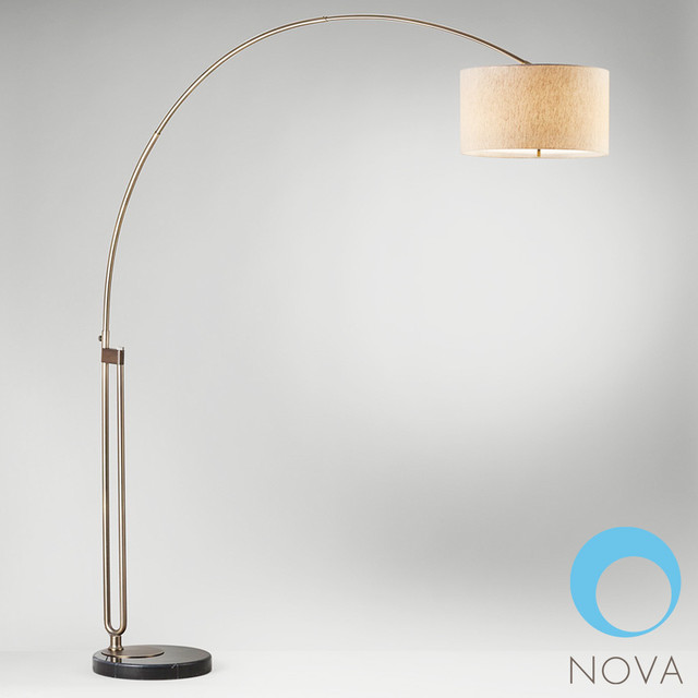 nova viborg arc floor lamp modern floor lamps los. Black Bedroom Furniture Sets. Home Design Ideas