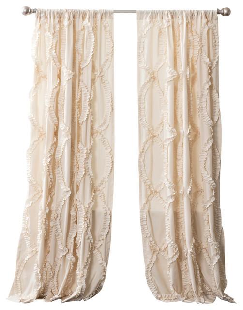 Avon Window Curtain Single Panel, Ivory.