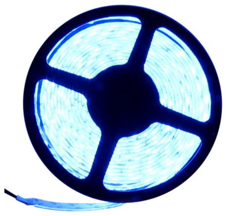 5050 Blue Super Bright LED Strip Light 16' Reel 150 LED Kit - Contemporary - Undercabinet ...