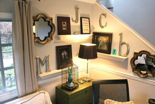 Wall Display eclectic family room