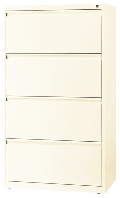 ... Hirsh 4-Drawer Lateral File Cabinet in Cloud - Filing Cabinets | Houzz
