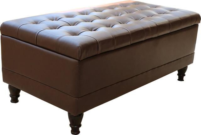 Storage Coffee Ottoman Dark Brown Espresso Black Lift Top Bench Modern Footstools And