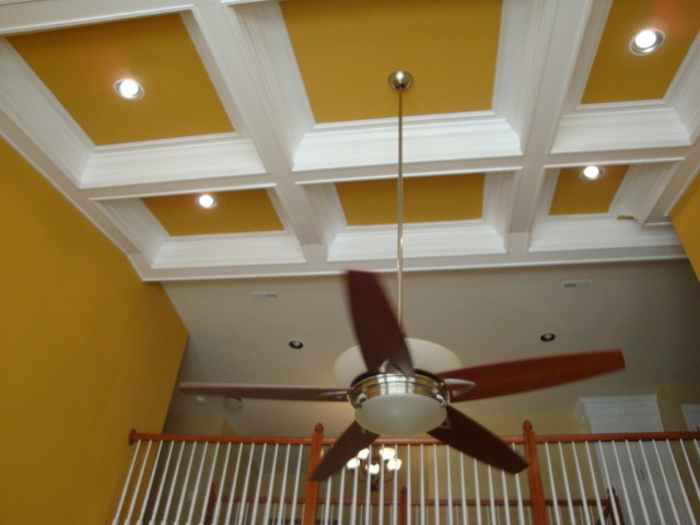Two Story Coffered Ceiling Project Craftsman Richmond