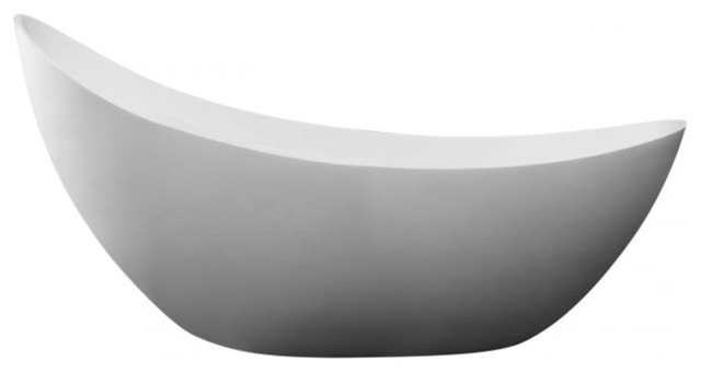 Oval Solid Surface Smooth Resin Soaking Bathtub Freestanding.