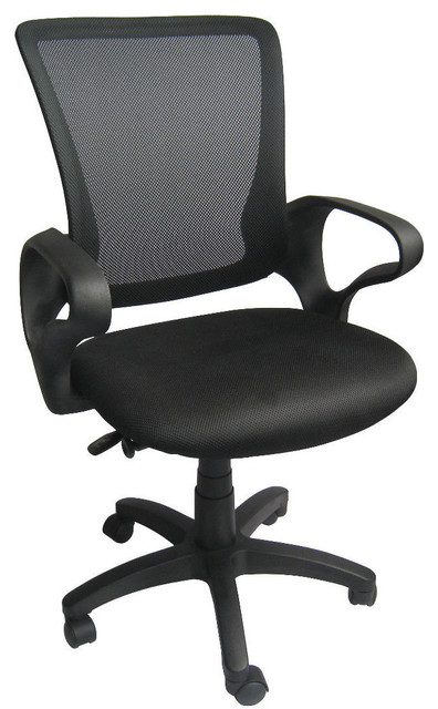 Executive Manager Mesh Computer Office Desk Mid-Back Swivel Task Chair.