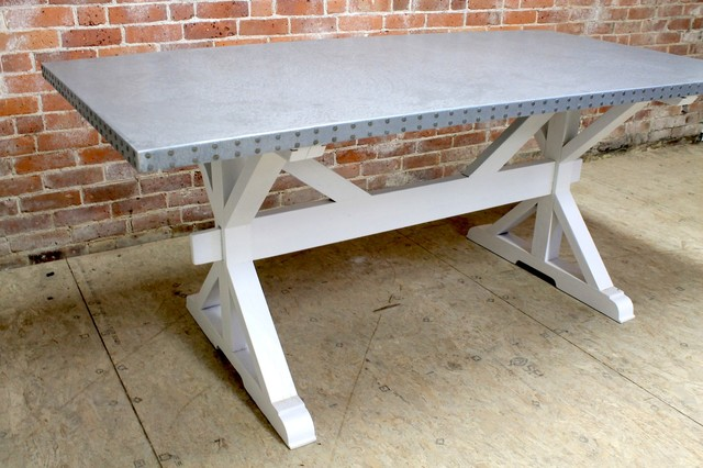 Zinc Top Dining Table Farmhouse Tables