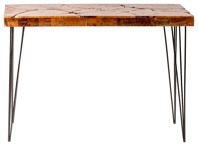 Privilege Console Table Mosaic Inlay Industrial Console Tables